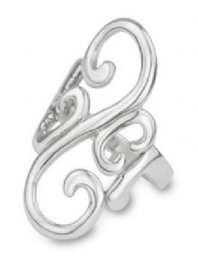 Celtic Swirl Silver Ring 9310